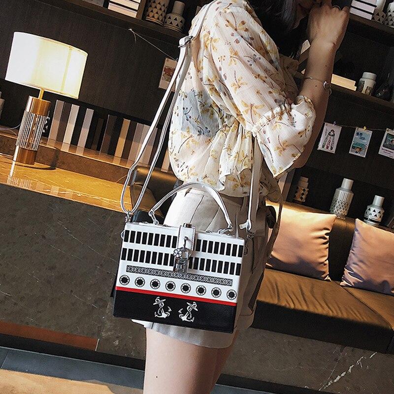 Luggage & Bags Pu Leather Women Handbag Fashion Travel Female Stitching Shoulder Bag Mini Lady Crossbody Holiday Hasp Handle Tote Bolsa Ss7060 Shoulder Bags