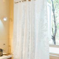 Europe white flower shower curtain PEVA thick waterproof fabric curtains for the bathroom Eco friendly bath screens 180*200cm