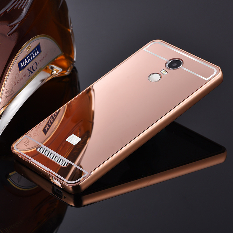 watch 7c9b2 3bb57 US $6.98 |New Hot For Xiaomi Redmi Note 3 Case Mirror Luxury Aluminum Metal  Frame & Acrylic Back Cover For Redmi Note 3 Redmi Note 2 pro on ...
