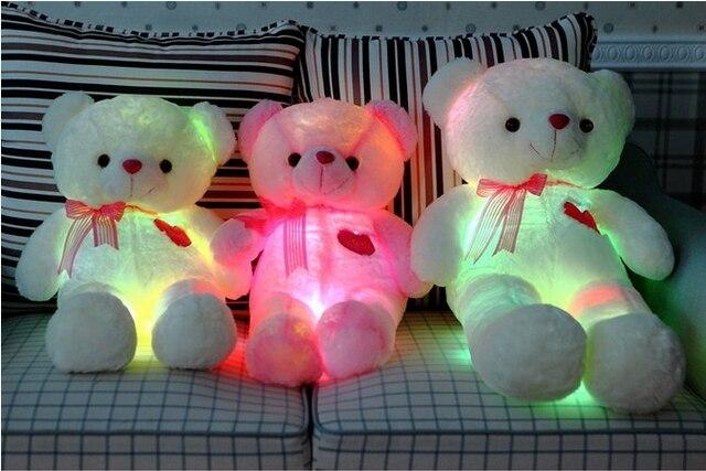 Мягкая мигающий из светодиодов свет чучела плюшевый мишка 65 см / 85 см высотой, Музыка играет медведь подарков для подруги или день рождения