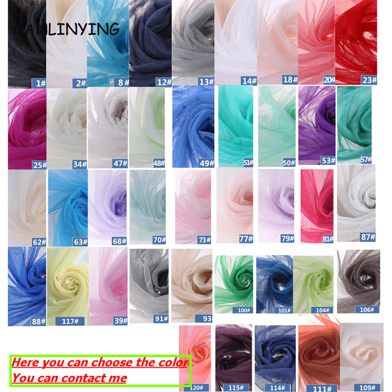 Image 5 - New Arrival 10meters/lot Soft Tulle Netting Fabric Mosquito Net Gauze Fabric Handmade Material For Pomp Skirt Curtain D407fabric mosquito nettingtulle netting fabricgauze fabric -