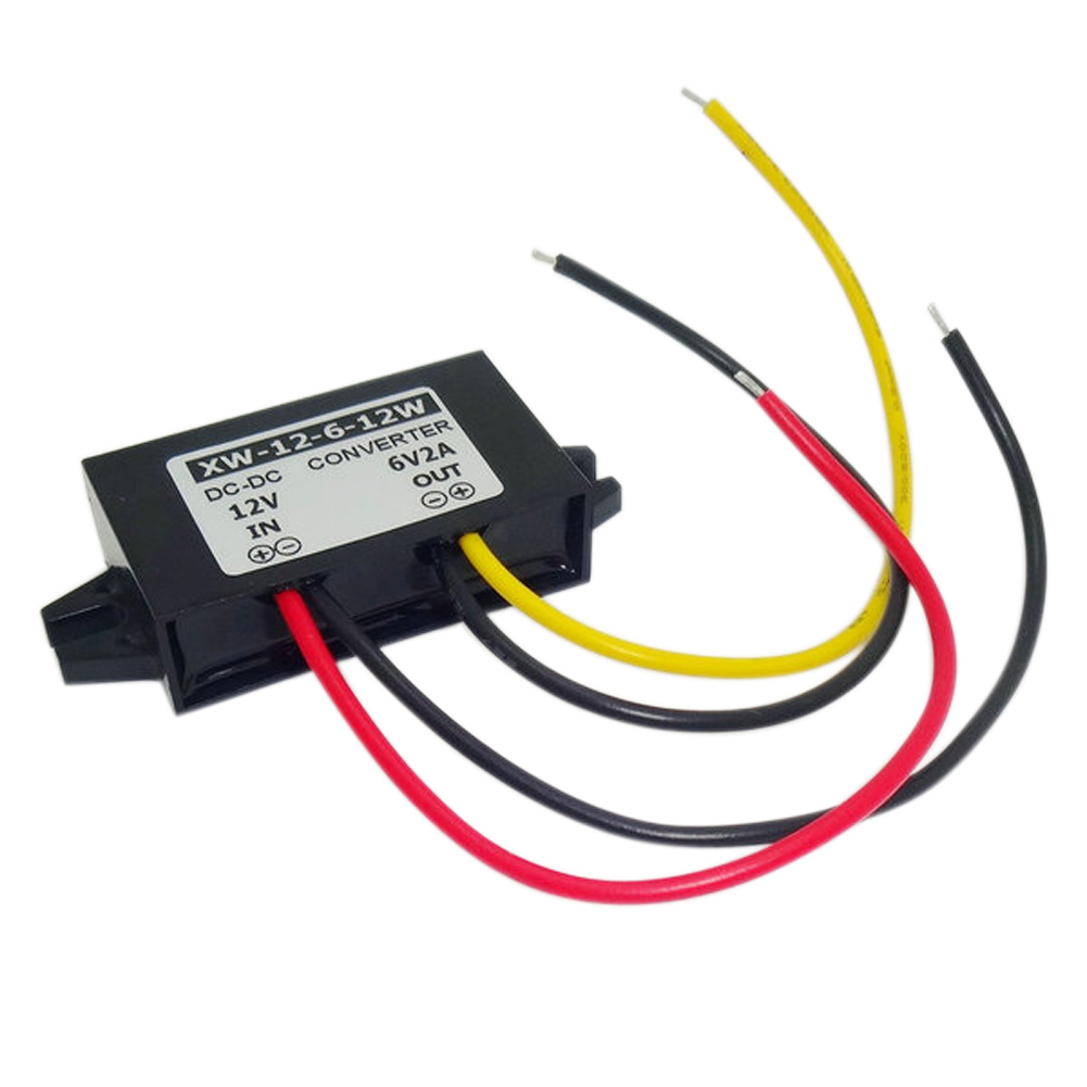 1Pc DC <font><b>12V</b></font> 8,5-22 V Zu 6V 2A 12W Step Down Power Supply Converter wasserdicht Stoßfest Regler Buck Modul Inverter <font><b>Adapter</b></font> image
