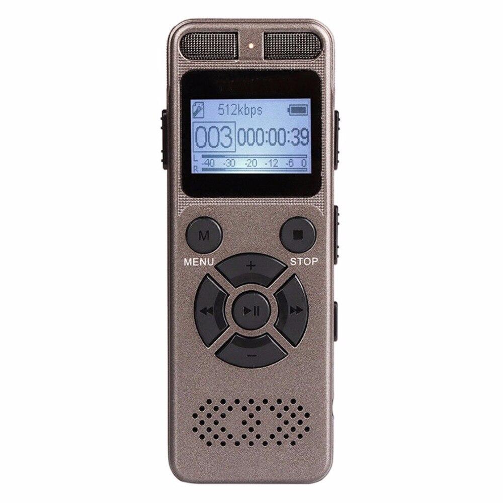 Mini enregistreur vocal numérique Portable avec Microphone carte d'extension TF maximale de 64 go pour toute Occasion enregistrement en WAV/Mp3