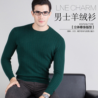 Winter Thick Men Sweater O Neck 100 Cashmere Pullovers High Grade New Warm Jumper Noble Fashion