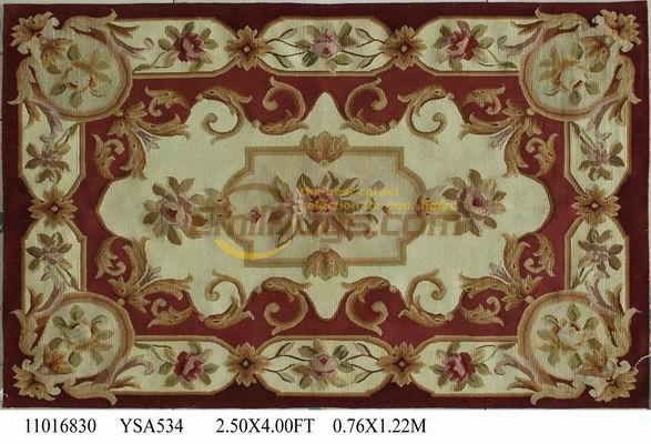Fait à la main pour tapis salon Antique français Aubusson tapis aiguille Point de croix Antique français Aubusson