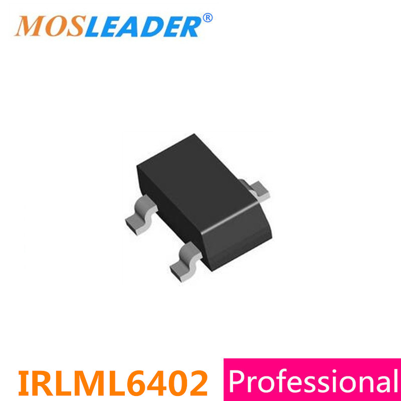 Mosleader IRLML6402 SOT23 1000PCS 3000PCS 20V 3.7A P-Channel Chinese brand IRLML6402TRPBF High quality цена