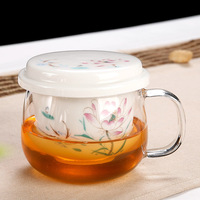 High Quality 230ml Chinese ceramics porcelain cups teapot with infuser tea pot double wall tea cup gift