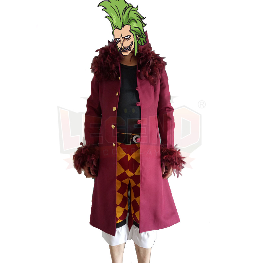 Anime One Piece Bartolomeo cosplay costume full set adult halloween costume  custom made
