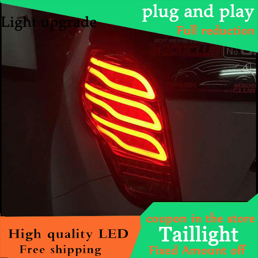 Car Styling Taillight Case For Chevrolet Spark Tail Lights 2010 2014 New Spark LED Tail Light