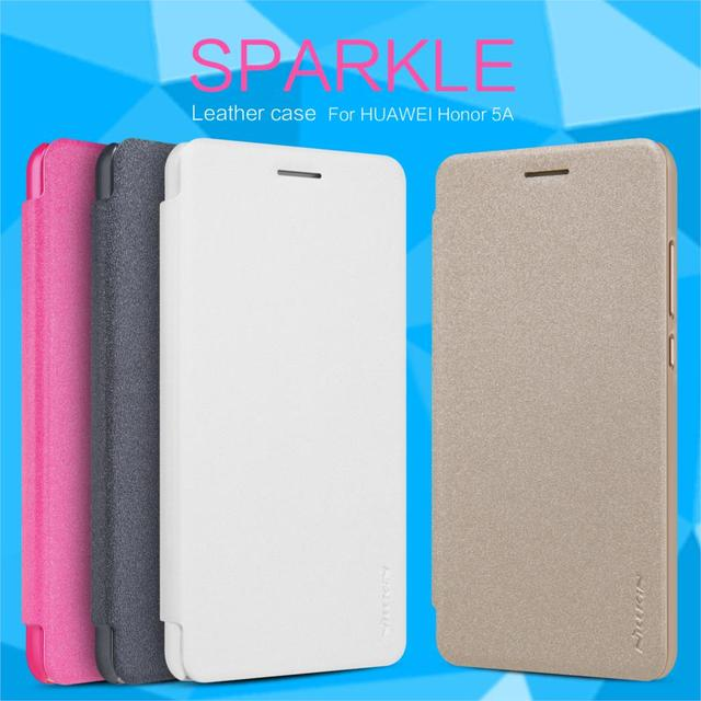 edd349a13c Nillkin Sparkle Series Luxury PU Leather Case For Huawei Y6 II/Holly 3 Flip  Cover for Huawei Y6 2 Hard Back Cases with Package