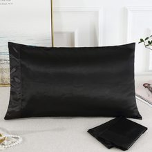 1PC Pure Silk satin Pillowcase Silky Soft Pillow Case(China)