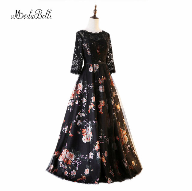 modabelle Lace Arabic Evening Gowns Dresses Half Sleeve Vestido Para ...