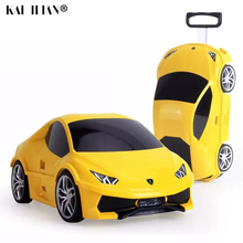 Travel Trolley Suitcase Rolling-Luggage On-Wheels Boys Children Car for Kids Gift