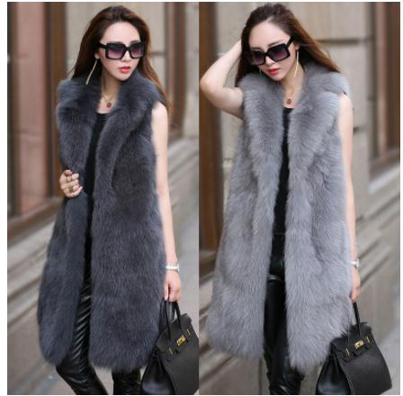 Colete Feminino Womens Large Size Faux Fur Vest Large Size Winter Autumn Sleeveless Fur Jacket Female Man Made Fur Vest K467-in Vests & Waistcoats from Women's Clothing    1
