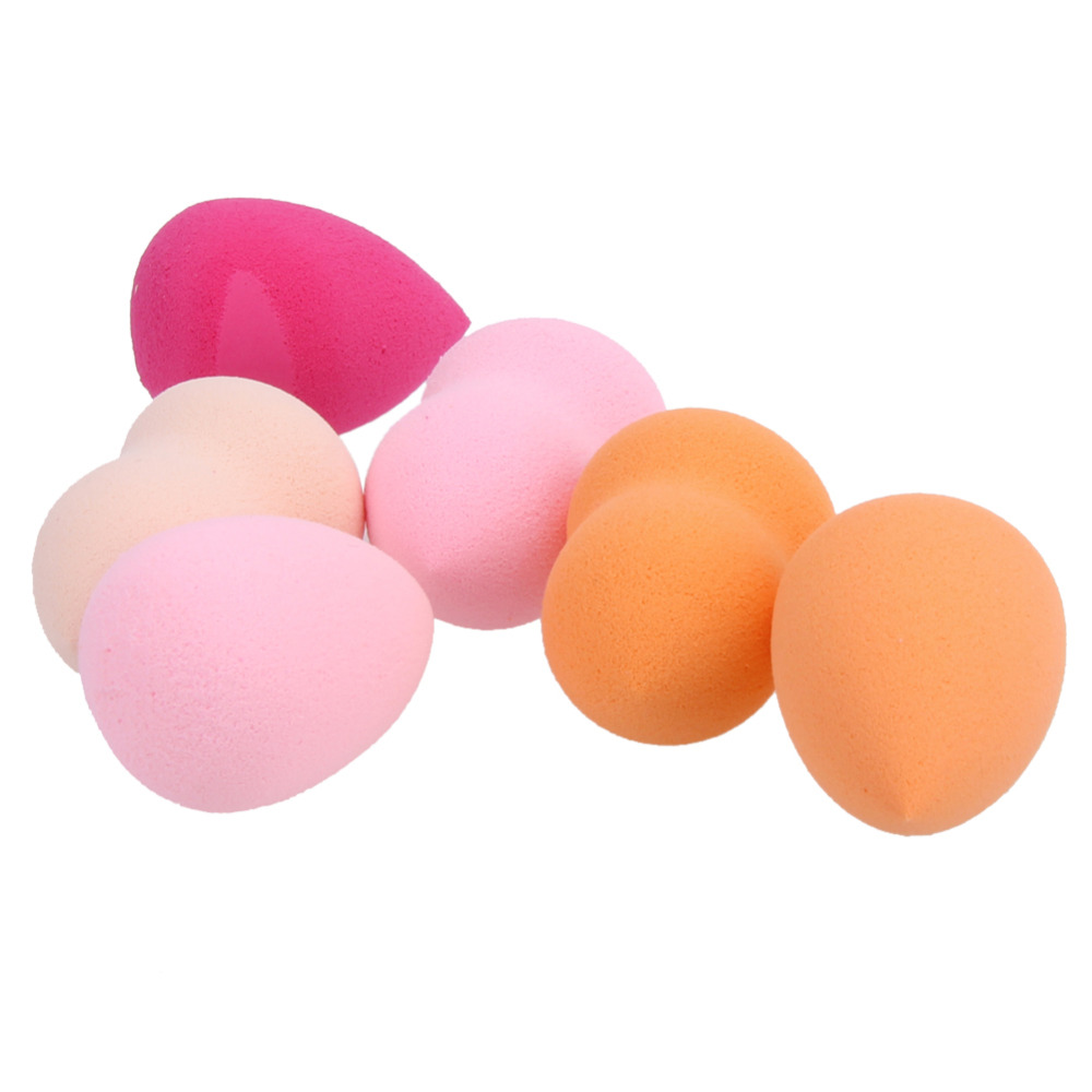 6Pcs font b Makeup b font Foundation Sponge Blending Face Powder Make Up Puff Esponja Maquiagem