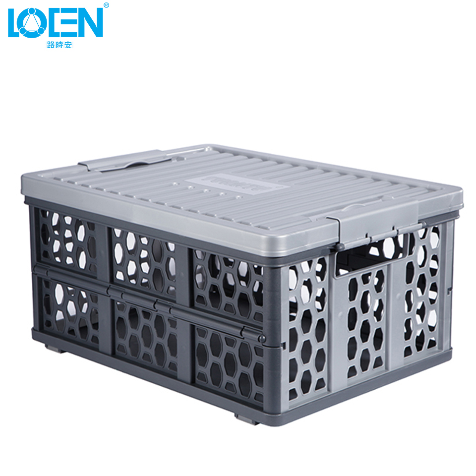 Foldable Multifunction Car Plastic Auto Storage Boxes Container
