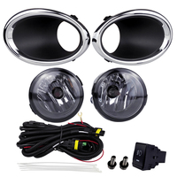 Car Styling 2016 Qashqai Fog Lamp Assembly for Nissan Accessories Yellow 55W 12V Driving Lamp Right Left Plating Cover Auto Part