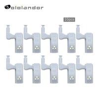 SOLOLANDOR 10Pcs LEVOU Luz Gabinete Armário Dobradiça Interna Inteligente Indução Toque Lâmpada Sensor de Luz Luz Da Noite para o Closet Wardrobe|Luzes para Armários| |  -