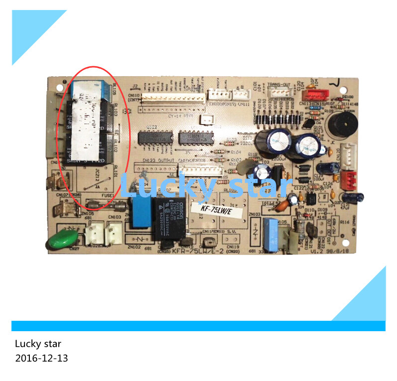 95% new used for Air conditioning computer board circuit board KFR-75LW/ED KFR-75LW/E-2 air conditioning parts computer board 30294206 dashboard z421503 used disassemble