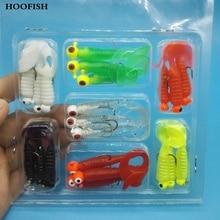 21pcs/lot  Free shipping The novice uses  Soft Fishing Lure Lead Jig Head Hook Grub Worm fishing lure soft lure