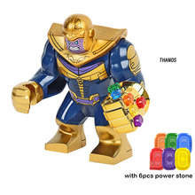Super Heroes legoeinglys Avengers Infinity War Infinity Gauntlet Iron Man Thanos Thor Building Blocks ชุดของเล่นงานอดิเรก