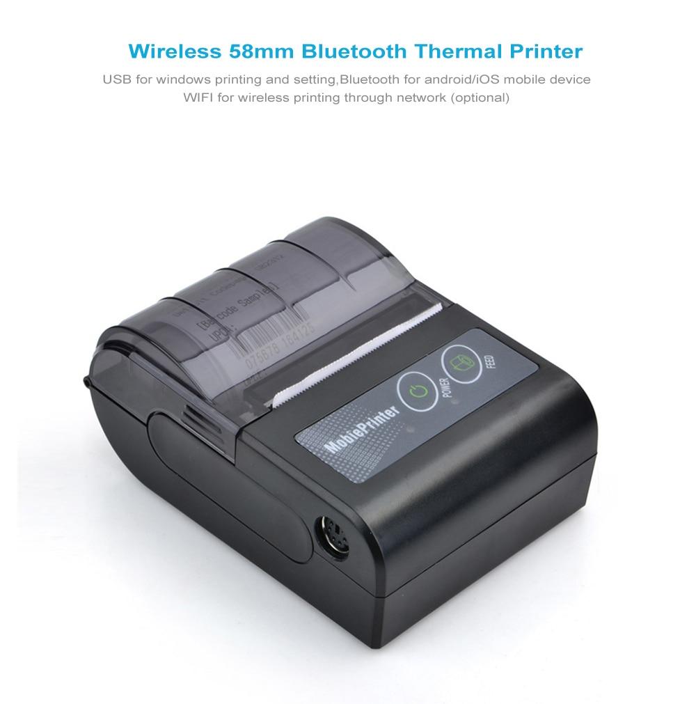 Free SDK 58mm Handheld Thermal Printer Android IOS Bluetooth 4 0 Receipt  Printer Mini Mobile Protable Thermal
