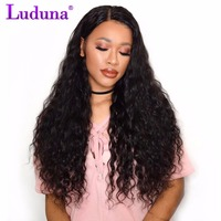 Luduna Human Hair Bundles Malaysian Water Wave Weave Bundles 1pcs/lot Non-remy Hair Extension Natural Color Can Buy 3 or 4 Piece