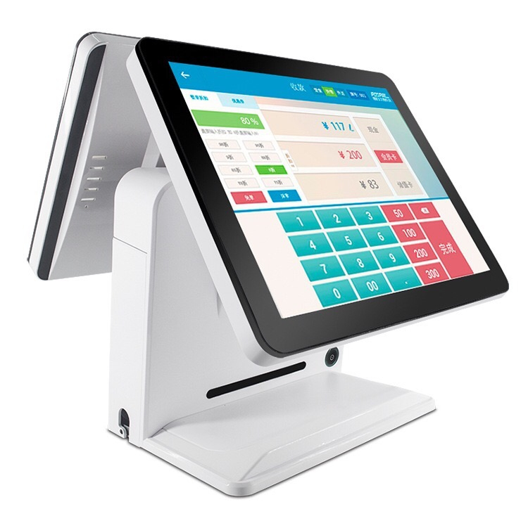 15 Inch Touch Screen Cash Register/pos System/ Touch POS All In One PC/pos/ 8 GB RAM And 128 GB SSD With Two Screens
