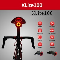 XLITE100 Bicycle Flashlight Bike Rear Light Auto Start/Stop Brake Sensing LED Rechargeable USB Charging Cycling Taillight IPX6
