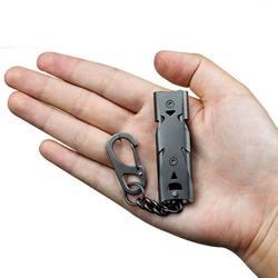 Случайный цвет наружная двойная трубка 150дб свисток кемпинг выживание нержавеющая сталь Apito эхолот для личной безопасности снаружи