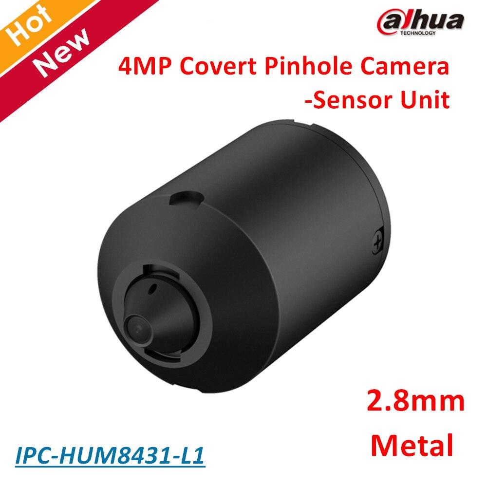 Dahua IPC-HUM8431-L1 4MP Covert Pinhole Network Camera Sensor Unit 2.8mm Fixed Pinhole Lens Day/Night WDR IP Camera Metal case