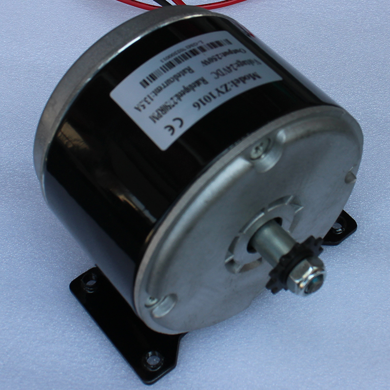 24V dc motor 1016ZY 250W 3300RPM permanent magnet high torque For DIY electric scooter zgb37rh dc 24v 400rpm high torque permanent magnet dc gear motor diy robot