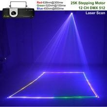 AUCD 1W RGB Animation Laser Projector Light DMX ILDA DJ Party Nightclub Show Profession Stage Light