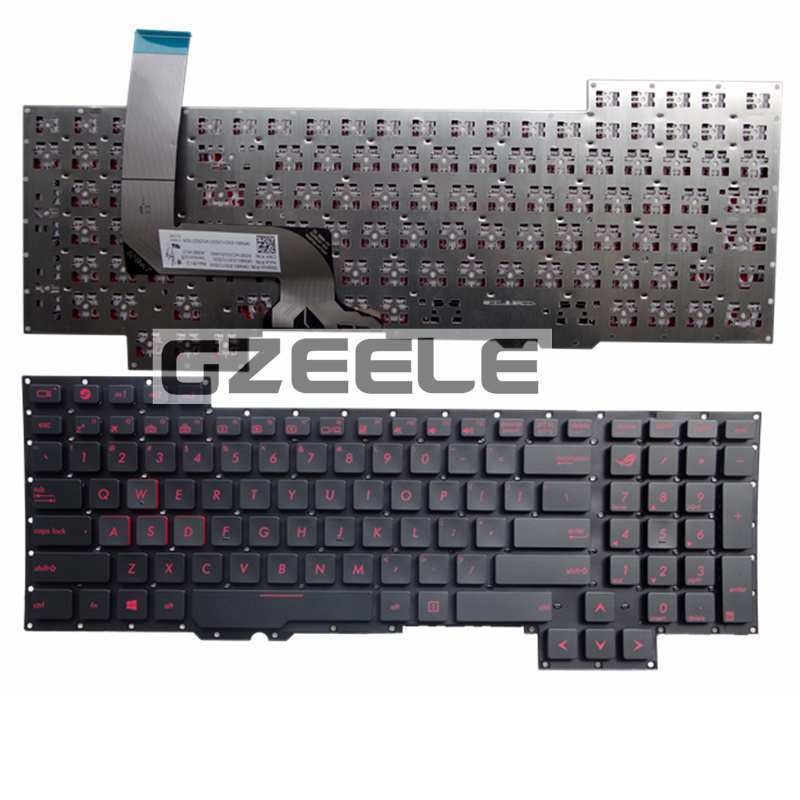 NEW keyboard For Asus G751 G751JM G751JT G751JY 0KNB0-E601RU00 ASM14C33SUJ442 US Replace laptop keyboard