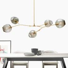 Grosse Frderung Glas Kronleuchter Licht Restaurant Kreative Persnlichkeit Moderne Wohnzimmer Lampe Bar Halle Mit E27 Led