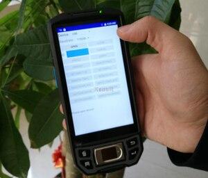 Image 3 - Fingerprint Reader UHF RFID 1D/2D Barcode Scanner Android 7.0 Wireless Handheld Device Terminal Rugged Waterproof Phone GPS 4G