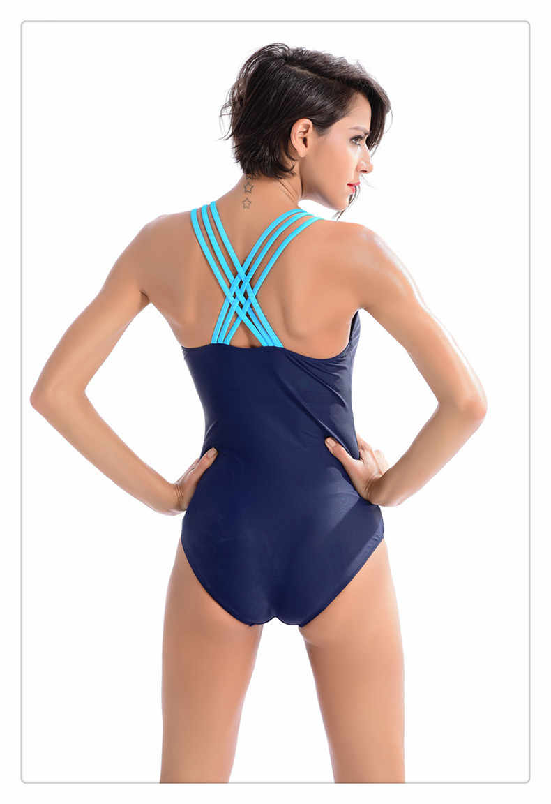 1c1238ffe3604 ... 2019 Popular Women s One Piece Sport Swimwear Push Up Bathing Suit Cut  Up Sexy Plus Size ...