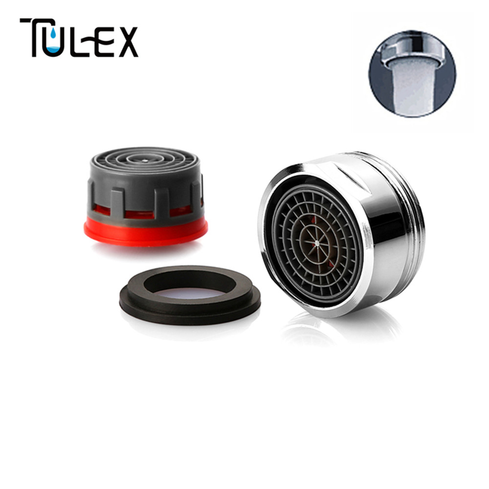 TULEX Water Saving Faucet Aerator 24MM Male Thread 4L/Min  Spout  Bubbler Tap Filter Crane Nozzle Attachment Accessories