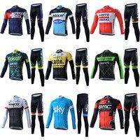 Męska Jazda Na Rowerze Jersey Odzież Odzież Rowerowa Ropa Ciclismo MTB Bike Koszulki PRO Rowerów Bike Wear Odzież Zestawy
