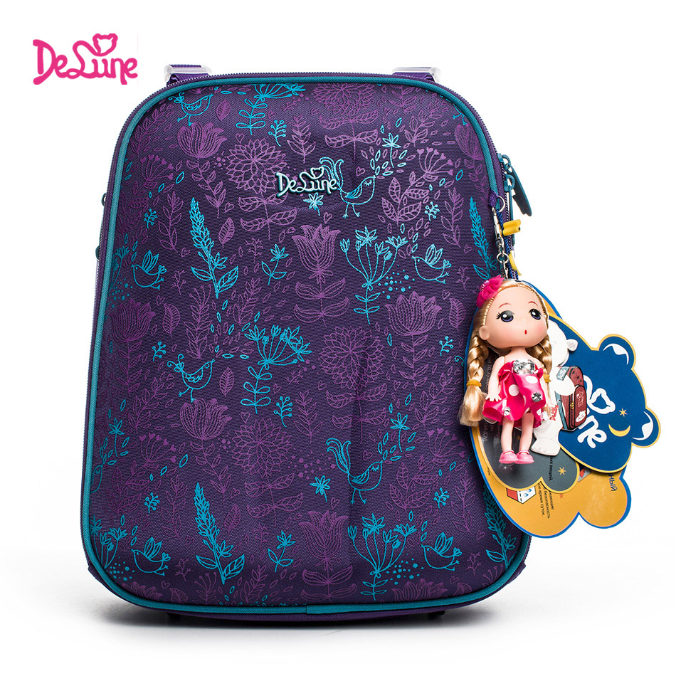 Authentic Delune 2017 school backpack children for girls little Children school bags kids for boys bears backpack child motor 3D delune new european children school bag for girls boys backpack cartoon mochila infantil large capacity orthopedic schoolbag