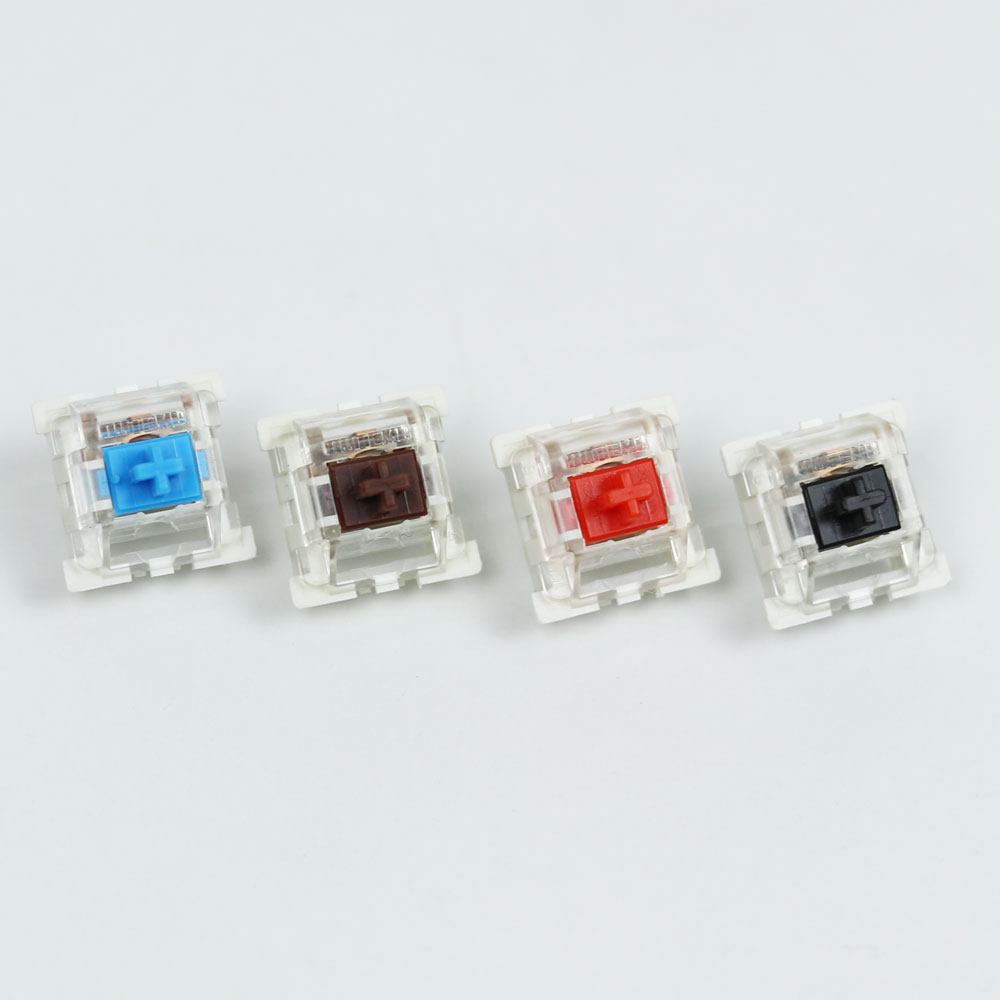 Outemu Switches mechanical keyboard black blue brown red key switch for CIY Sockets SMD 3pin Thin pins Compatible with MX switch(China)