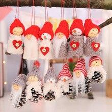 Рождественская креативная маленькая подвесная кукла из белой сосны, 3 пирога, Рождественская мини-кукольная подвеска