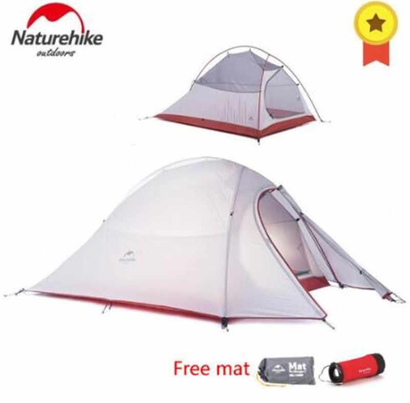 Naturetrekking Cloud Up série 1 2 3 personnes ultra-léger tente équipement de Camp 20D Nylon mise à niveau 2 homme hiver Camping tente avec tapis