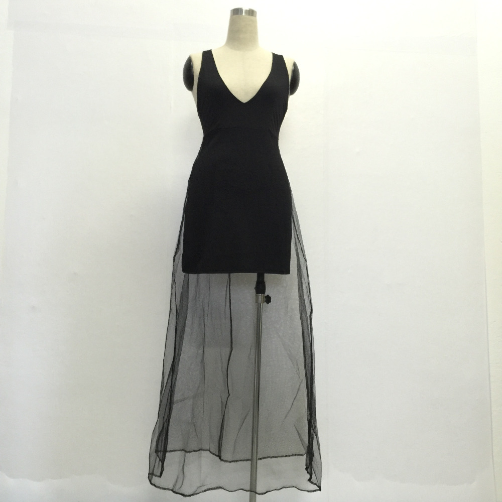 Europe and the United States women s new summer sleeveless dress sense deep  V Mesh backless condole belt dress club -in Dresses from Women s Clothing  on ... ada9b878b
