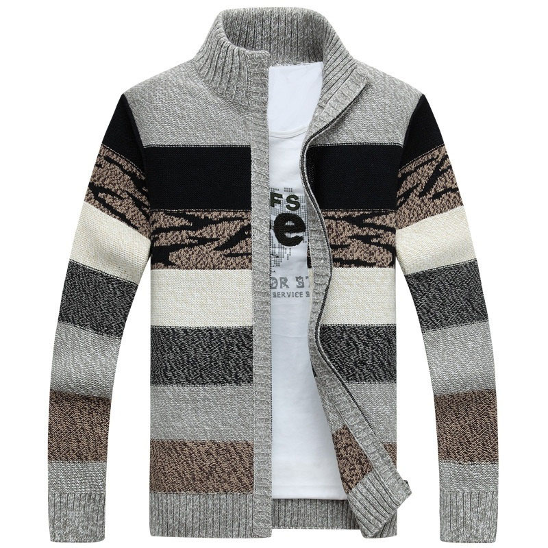 Drop Shipping Fashion Printed Man Winter Knitted Sweaters Cardigans Outwear Christmas Sweater Men AXP226