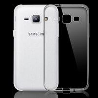 100x Ultra Dünne 0,3mm Transparent Weichen Silikon rückseite fall für Samsung Galaxy J1 J100 fällen klar TPU capa fudas coque