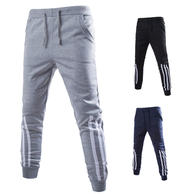 2016 Summer Autumn Men Sweatpants Casual Harem Pants jogger Striped Printed Joggers movimiento Trousers Pantalones MQ353