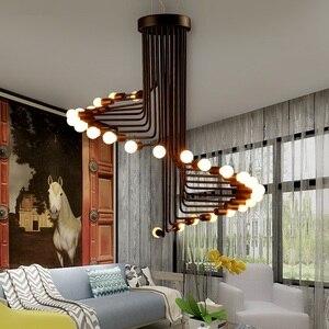 Image 5 - Nowoczesne lampy LED Nordic oświetlenie do salonu lampy bar żyrandol restauracja światła wiszące cafe nowość jadalnia żyrandole