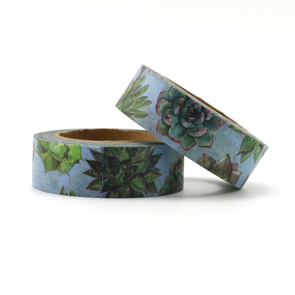 1.5mm*10m Succulent Plants Decorative Adhesive Tape Masking Washi Tape DIY Scrapbooking Sticker Label Japanese Stationery
