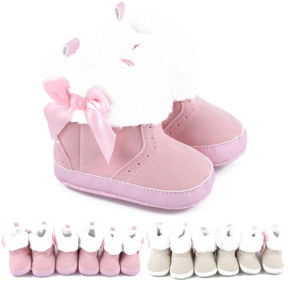 Babyschuhe Aufrichtig 1 Paar Neue Stil Super Warm Infant Weichen Boden Schnee Stiefel Bowknot Lace Up Baby Jungen Mädchen Schuhe Baby Prewalker Stiefel Heller Glanz Stiefel